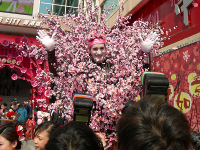 PEACH BLOSSOM ON STILTS
