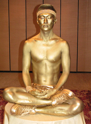 GOLDEN BODY PAINTED