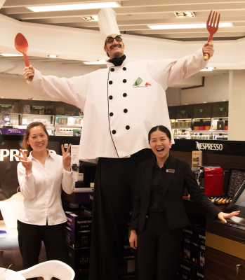 BIG CHEF ON STILTS