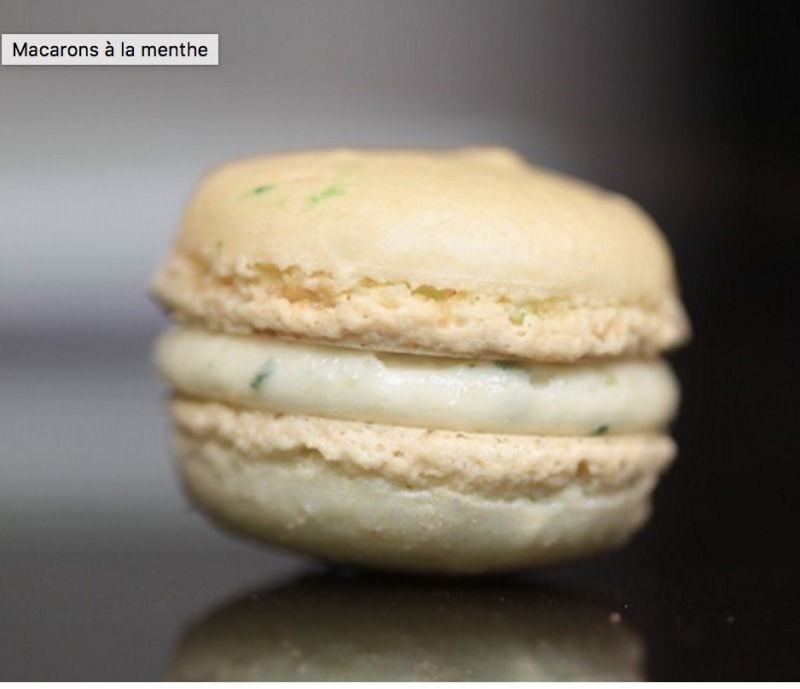 Recette Garniture MACARON Menthe – Type Infusion