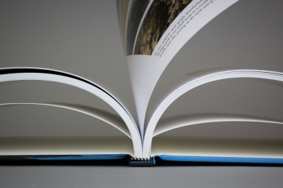 open book, coffee table book, hand bound