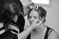 Wight Bride Isle of Wight Wedding Photography bride having makeup