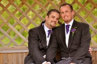 Wight Bride Isle of Wight Wedding Photography gay couple sitting