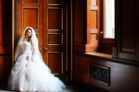 Wight Bride Isle of Wight Wedding Photography bride by door