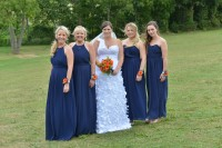 Wight Bride Isle of Wight Wedding Photography bride and bridesmaids lineup
