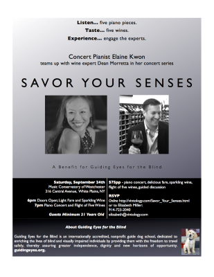 Savor Your Senses at Westchester Music Conservatory Advertisement