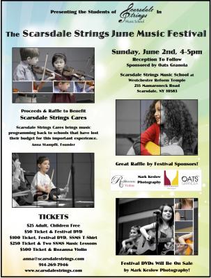 Scarsdale Strings June Music Festival Advertisement