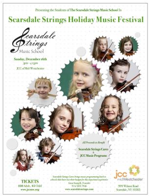 Scarsdale Strings Holiday Music Festival Flier