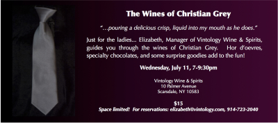 The Wines of Christian Grey Advertisement