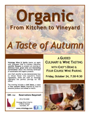 Organic From Kitchen to Vineyard Spring Advertisement