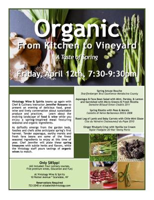 Organic From Kitchen to Vineyard Autumn Advertisement