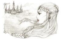 LoZ Zelda Twilight Princess pencilart graphite
