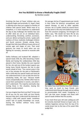 Hope's Seed was privileged and honored to be part of  Femmes International Magazine 2016 May/June is
