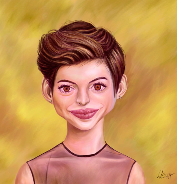 Anne Hathaway Caricature