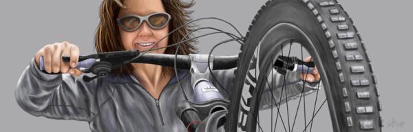 Mountain Biker Illustration