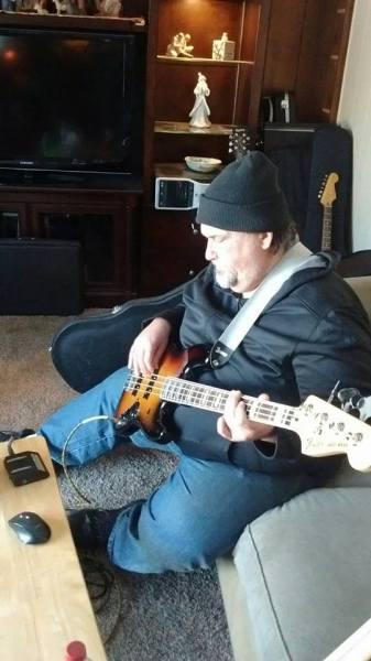 Steve doing Bass tracks