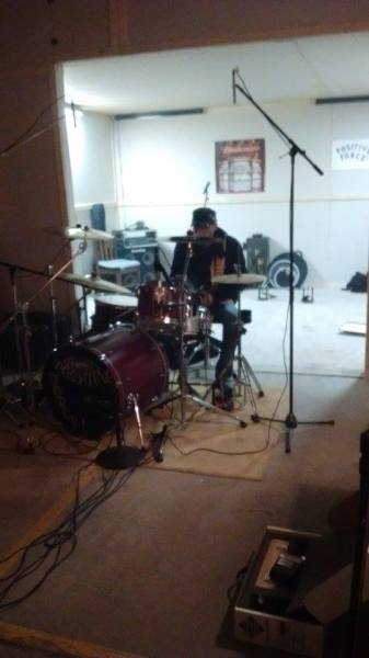 Dave Setting Up DJ's Drums