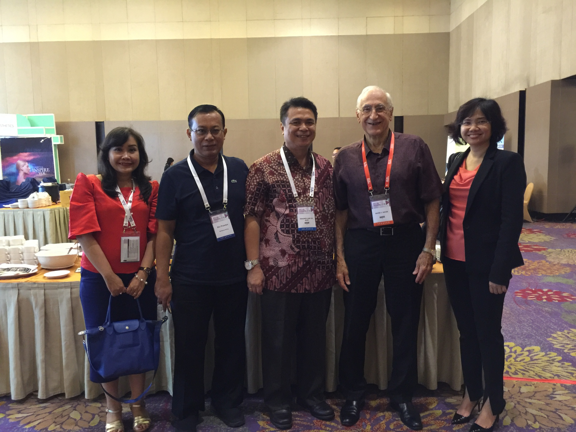 Professor David with Indonesian colleagues
