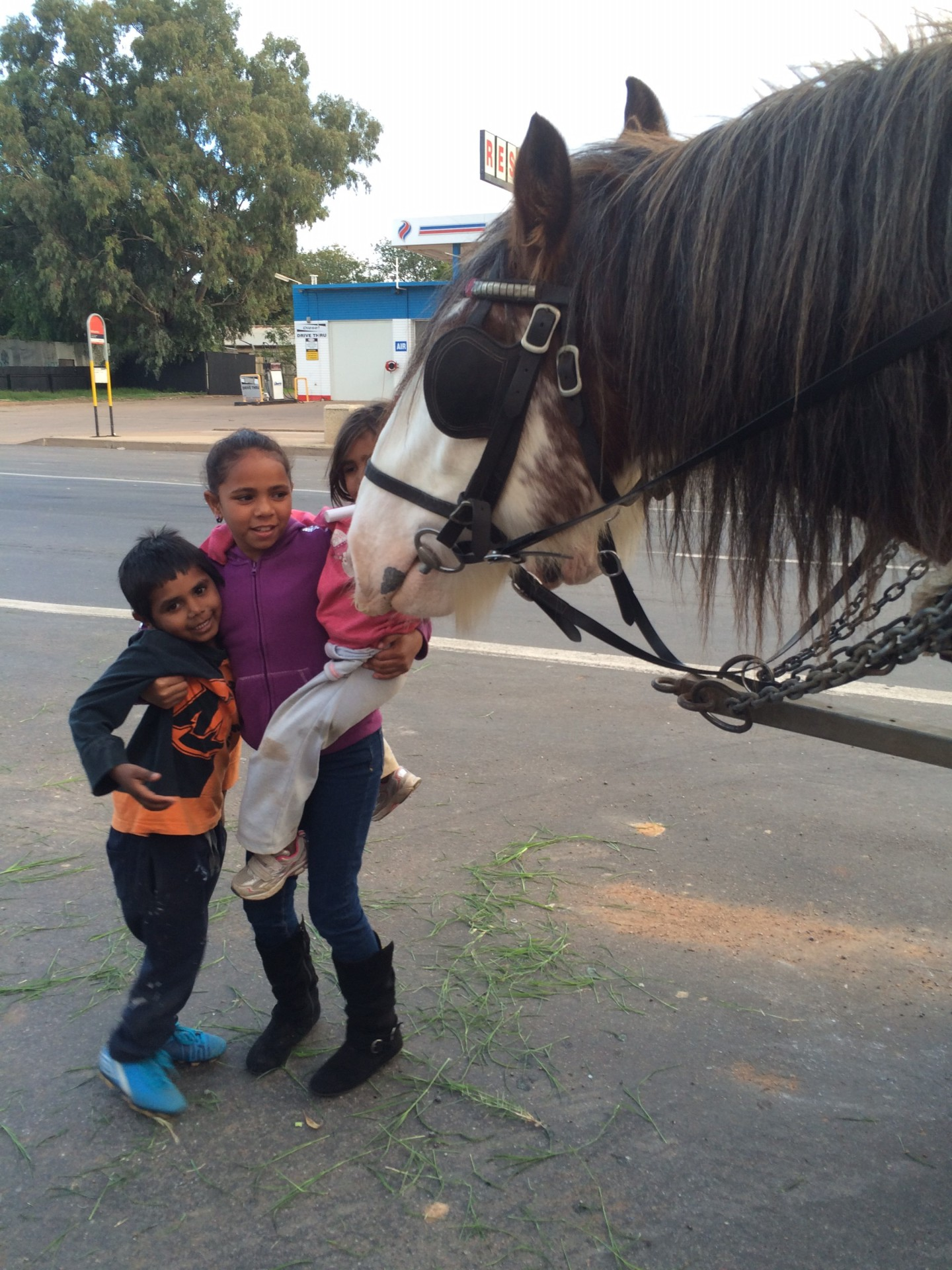 Local friends come to see Harry & Wilcannia