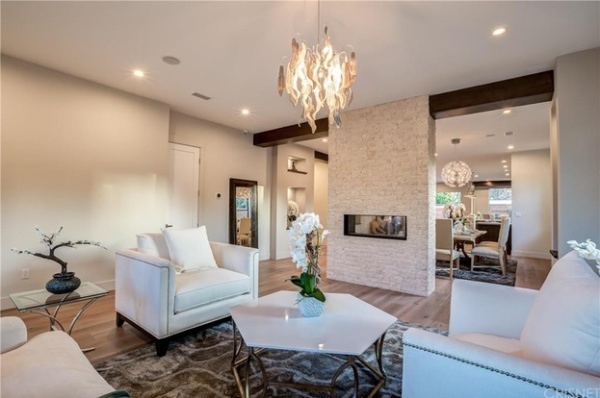 hardwood floors installed in the living room