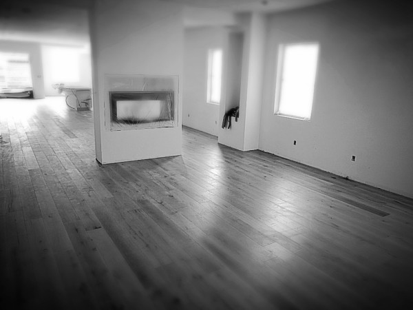 Unfinished Hardwood flooring sanded and finished Los Angeles