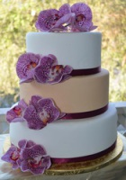 elegand two color fondant wedding cale