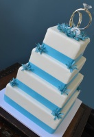 simple four-tier wedding cake