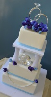 blue diamond wedding cake