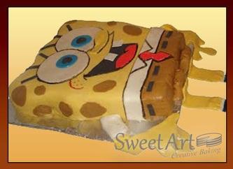 3d sponge bob cake
