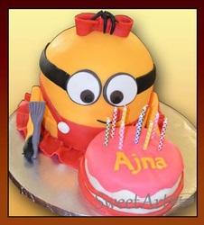 3D Minion girl cake
