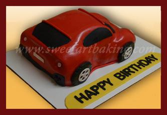 Porshe car 3d cake
