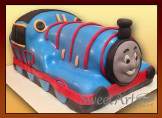 3d Thomas train cake