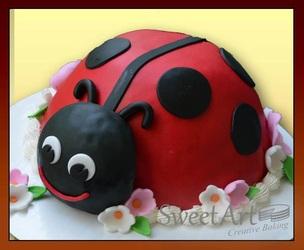 3d Lady bug cake