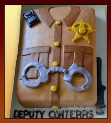 police uniform cake
