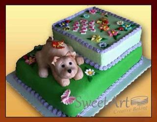 doggy 3d cake