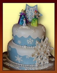 Frozen blue and ice cake