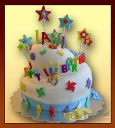 topsy turvy girls birthday cake