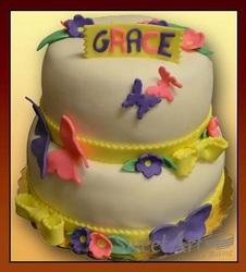 butterfly girls birthday cake