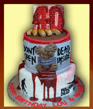 Walking Dead 40 birthday cake