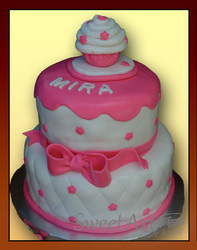 cupcake topper girls cake