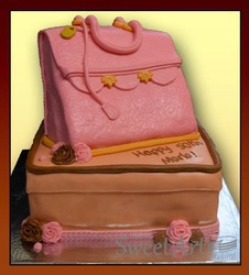 3D purse ladies cake