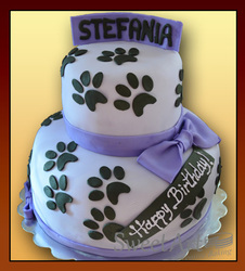 cute puppy girls cake