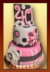 elegant 40 birthday cake