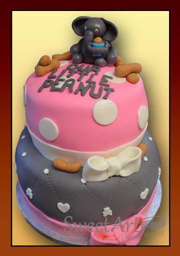 My little peanut baby shower cake