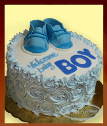 baby shoes cake