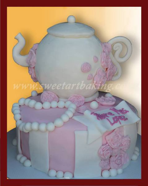 tea pot cake