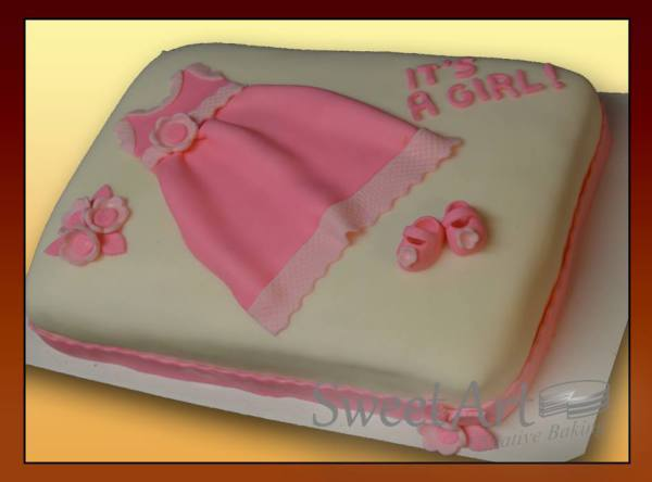 it's a girl dress cake