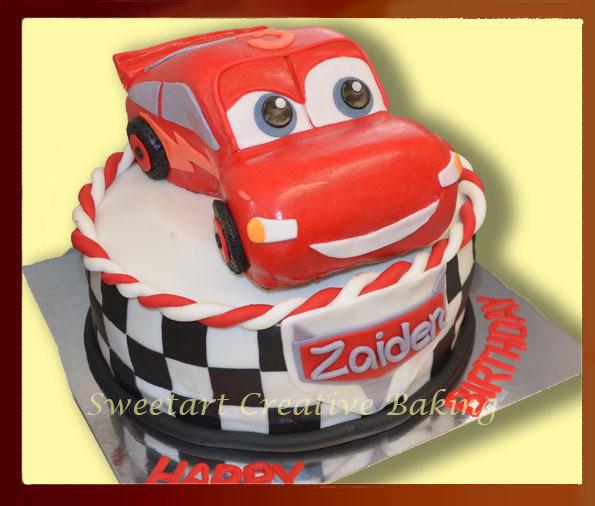 Lightning McQeen Cars Cake