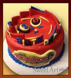 Bay blade cake