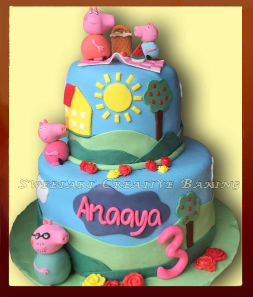 Pappa Pig cake